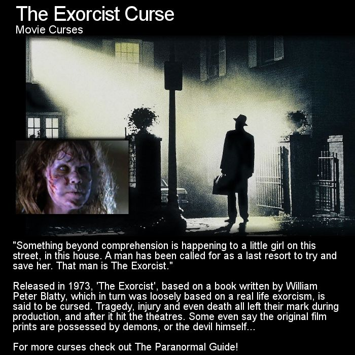 Exorcist move CURSED Many believe this movie should never have been made, many…