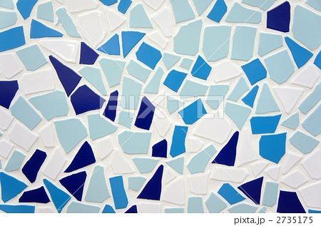 テクスチャー 水色のモザイクタイル