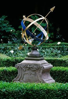 Armillary Sphere Garden Sculpture | Armillary Sphere In An Amsterdam  Private Knot Garden   Photo By