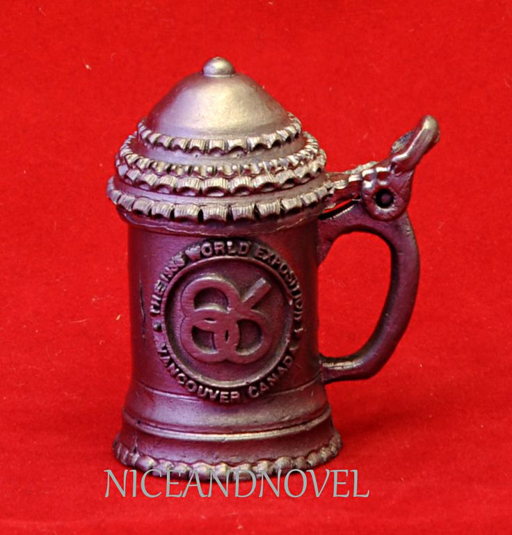 EXPO 86 VANCOUVER COLLECTOR SERIES PEWTER MUG MINIATURE- RARE-