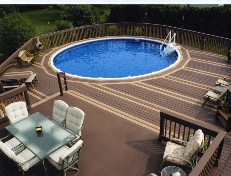 ground pool decks swimming pools above deck plans oval free images