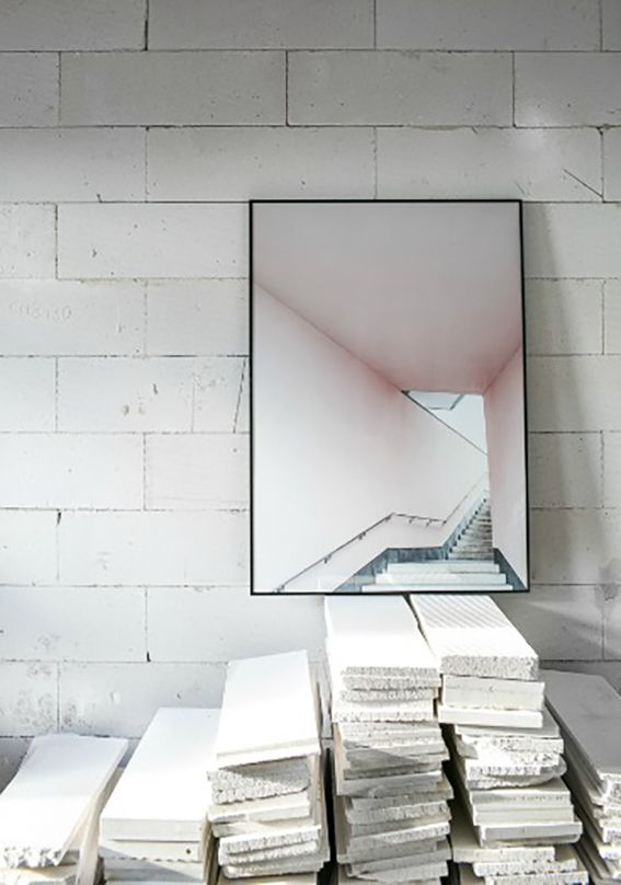Pink Stairs by Annaleena Leino Karlsson | Poster from theposterclub.com