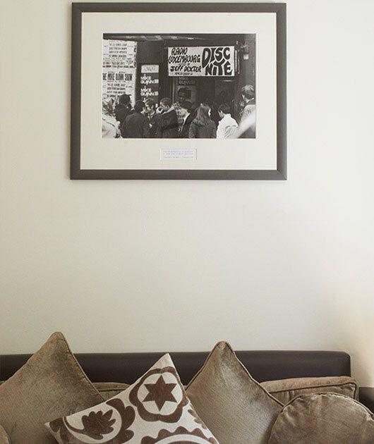 Stylish decor and original art prints at No.5 Maddox Street.
