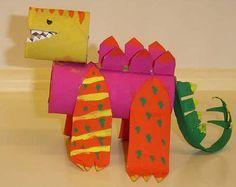 Dinosaur craft - paper rolls #ilovejbf #Allentown #kidcrafts