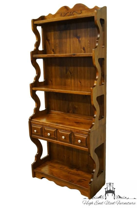 Kling Colonial Solid Pine Rustic Country Style 32 Wall Etsy In 2020 Solid Pine Rustic Country Vintage Bookshelf