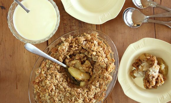 Maggie Beer's Apple Crumble - Made this last night with macadamias