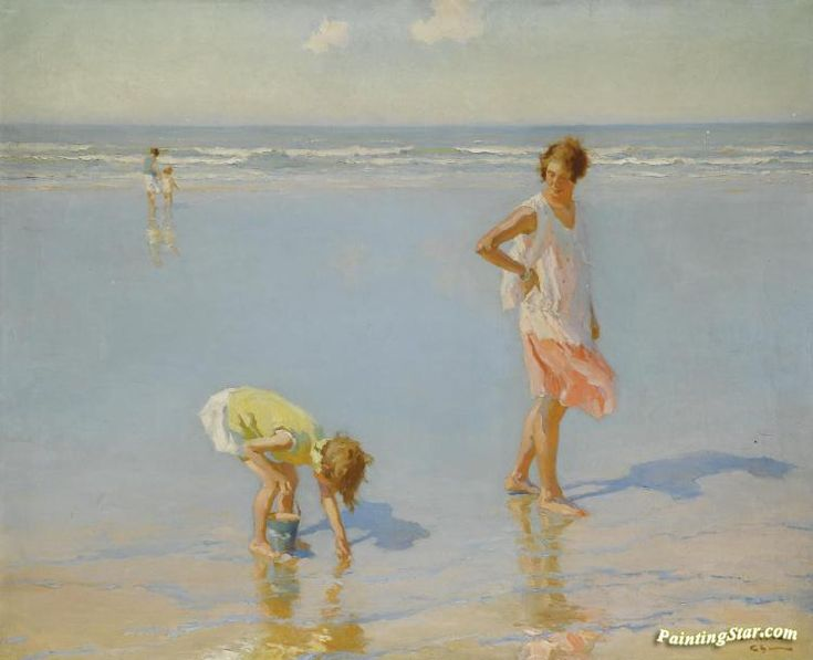 On white sands Artwork by Charles Atamian Hand-painted and Art Prints on canvas for sale,you can custom the size and frame