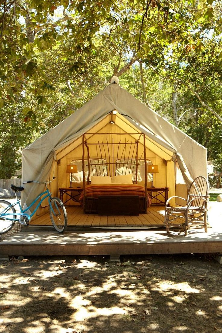 El Capitan Canyon   Made up of cabins and tents, it offers a rustic but luxurious way to experience the El Capitan Canyon and beach near Santa Barbara.