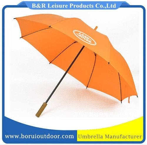 Strong orange umbrella Land Rover, auto open wood handle_umbrellas_paraplyer_promotional paraplu