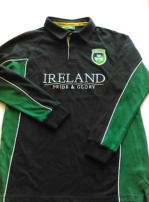 Ireland Boys IRFU rugby shirt Pride and Glory BNWT Age 10-12 Irish warm long slv