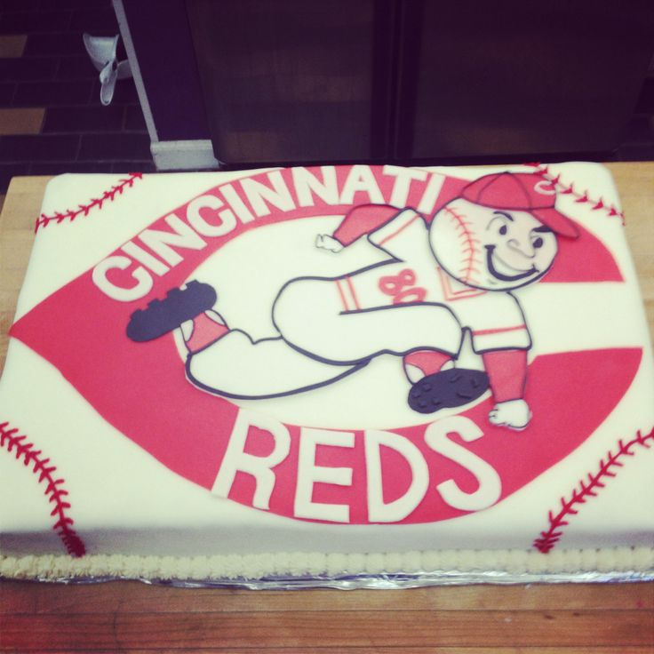 34 best Cincinnati Reds Cakes images on Pinterest Cincinnati