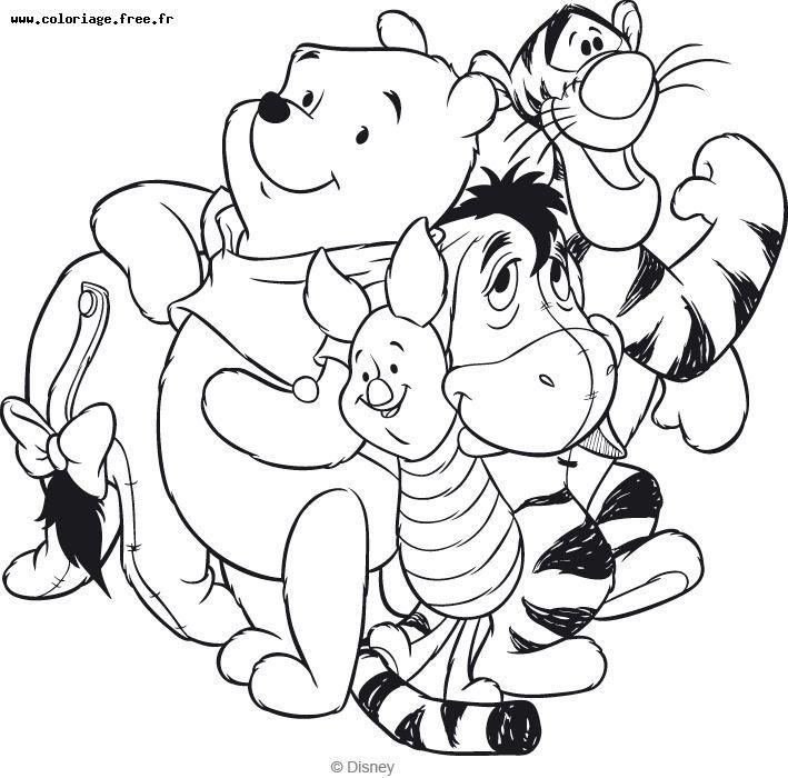 imprimer le coloriage winnie l ourson et ses amis pour imprimer le
