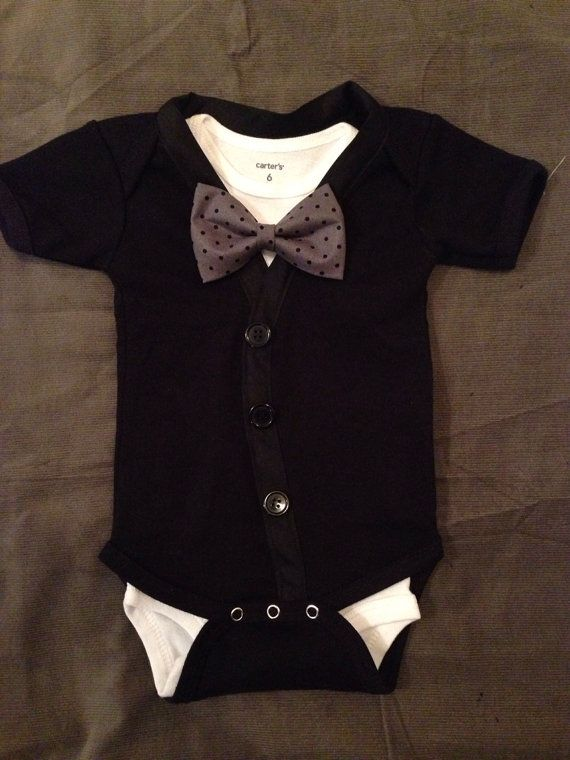 Love it! Cute boy tux onsie. babyboy