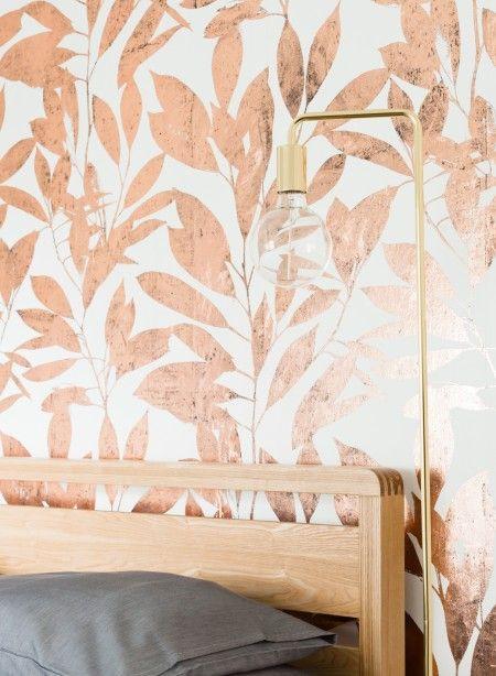 Papier peint cuivré Rye Copper