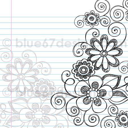 flower designs border sketch. handdrawn sketchy notebook doodle flower page border vector illustration by blue67design flickr designs sketch s