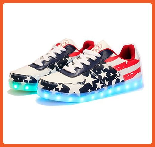 Mini Fashion Leisure Sports Shoes USB Charging 7 Colors LED Shoes Light Up Flashing Fashion Sneakers For Mens Womens - Sneakers for women (*Amazon Partner-Link)