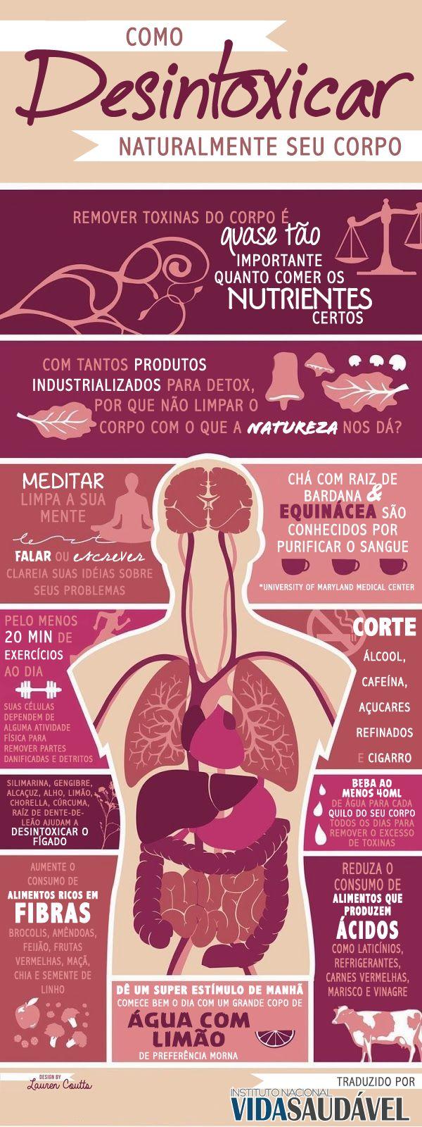 Infográfico [INVS] Como Desintoxicar Naturalmente Seu Corpo