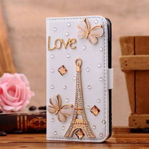3D Crystal Rhinestone flip Leather Wallet Case Cover for LG google Nexus 4 E960 | eBay