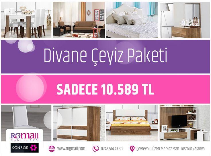 Mutlu haftasonları! Zerafetin ve şıklığın muhteşem uyumunu evinizde yakalayacağınız Divane Çeyiz Paketi'mize yakından göz atmak ister misiniz? Paket detayları: http://rngmall.com/portfolio/divane-ceyiz-paketi/  #alanya #mobilya #dekorasyon #evlilik #dugun #ceyiz #kampanya #indirim #alisveris #home #furniture #wedding