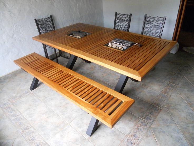 Comedor en madera teca, 8 puestos athosmuebles.com