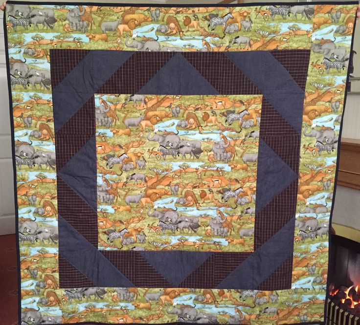 Safari HST quilt for Project Linus (June 2016)