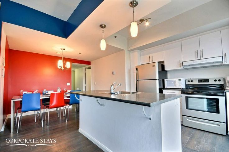 For something completely different - check out 'Heritage' a funky 2-bedroom in Quebec City #decor #modern #QuebecRental