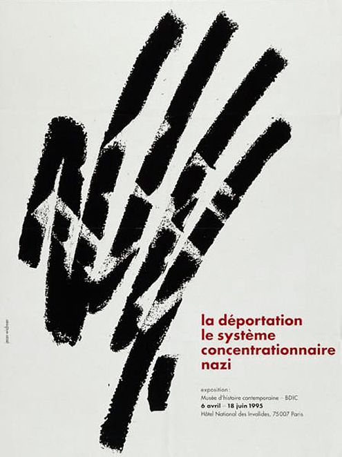 Jean Widmer, 1955 La Déportation Nazi, poster