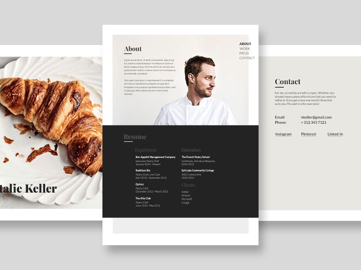 17 best images about jobs on pinterest logos business for Chef portfolio template