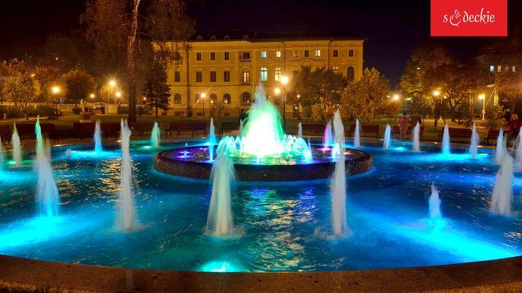 multimedialna fontanna w pobliżu Starego Domu Zdrojowego w Krynicy-Zdroju, fot. A.Klimkowski