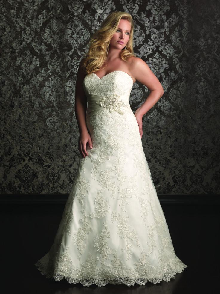 Wedding dress | Bridal gown | Bride | Allure Womens | Style W311 | Curvy | Plus size |
