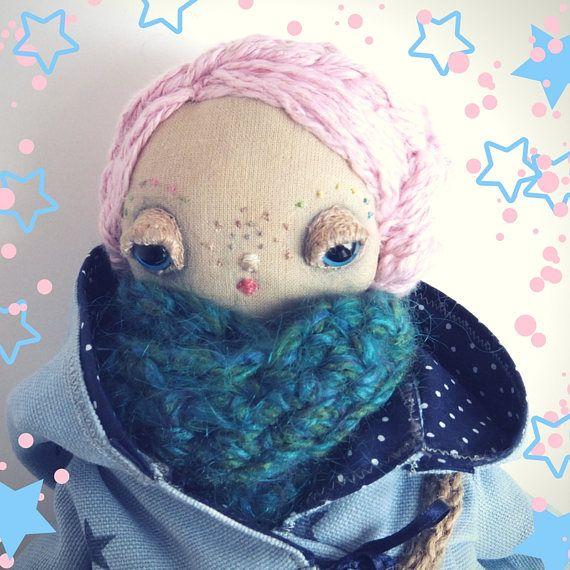 Chloe a one of a kind handmade cloth doll
