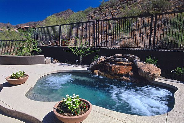 269 best images about small inground pool spa ideas on for Pool design az