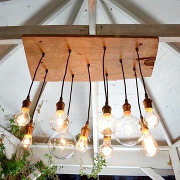 Rustic chandelier. VERY creative idea!