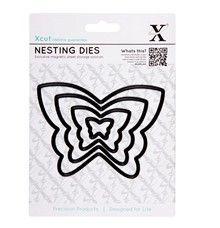 Motýli - vyřezávací kovové šablony Xcut (4ks)