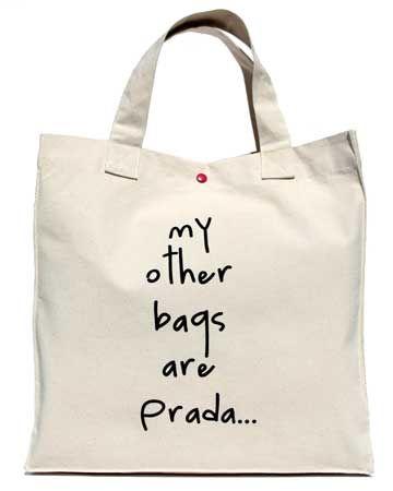 cool: Prada, Fashion, Style, Ecobag, Canvas, Diy, Bags