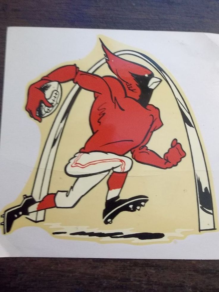 1960 St Louis Cardinals Football  2 Decals 2 sizes