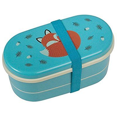 "Wendekreis Bento-Lunchbox ""Rusty the Fox"" Brotbox Besteck Kinder Fuchs Gabel Löffel"