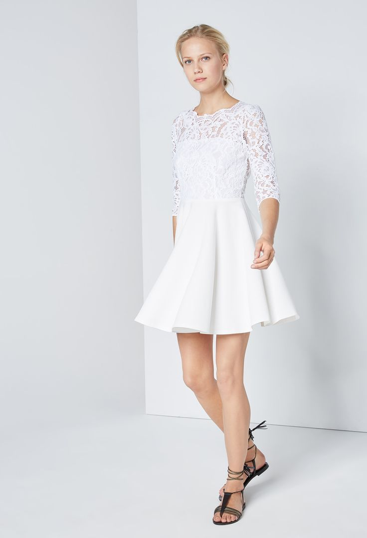 26 best Kleid Standesamt images on Pinterest   Bridesmaids, Ivory ...