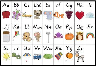 FREE! Alphabet chart freebie!