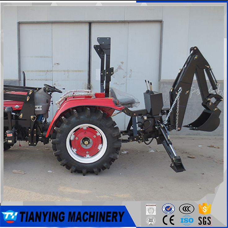 CE improved compact tractor backhoe for sale