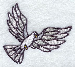Stained Glass Dove of Peace design (F5925) from www.Emblibrary.com