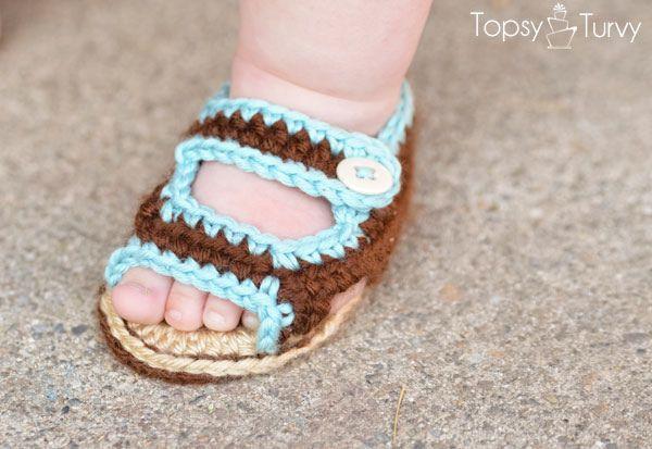 crochet-baby-sandals-: Babies, Summer Sandals, Baby Summer, Free Pattern, Sandals Patterns, Crochet Baby Sandals, Crochetbabi, Crochet Patterns, Crafts