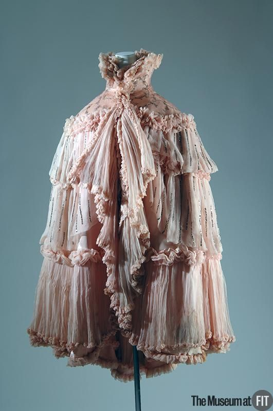 """omgthatdress: """"Evening Cape Jeanne Paquin, 1897 The Museum at FIT """""""