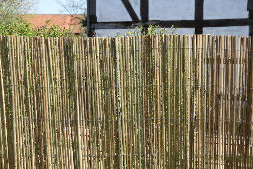 5m x 1,5m Bambusmatte Bambus-Sichtschutzmatte Zaun- Sichtschutz Matte geschnitten: Amazon.de: Garten