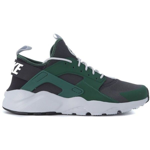 Sneaker Air Huarache Ultra Verde E Nera ($124) ❤ liked on Polyvore featuring men's fashion, men's shoes, men's sneakers, menshoessneakers, verde, mens mesh shoes, mens mesh sneakers, nike mens shoes and nike mens sneakers