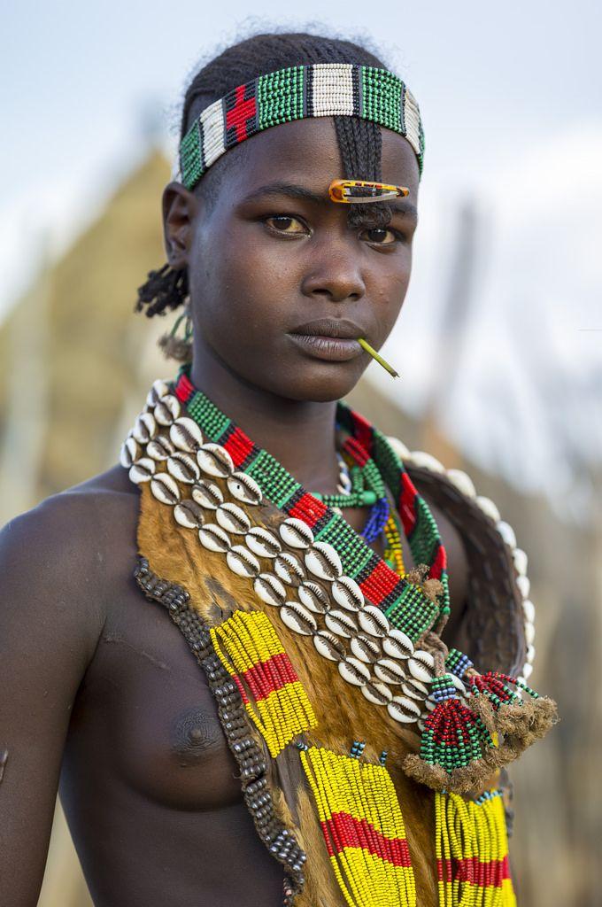 Washare from the Hamer tribe in Logara, near Turmi, Omo Valley ...