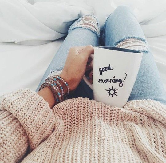 happy | coffee | morning | cozy | mug | bed | comfy