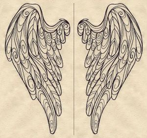 Doodle Wings (Wing Pair) | Urban Threads: Unique and Awesome Embroidery Designs