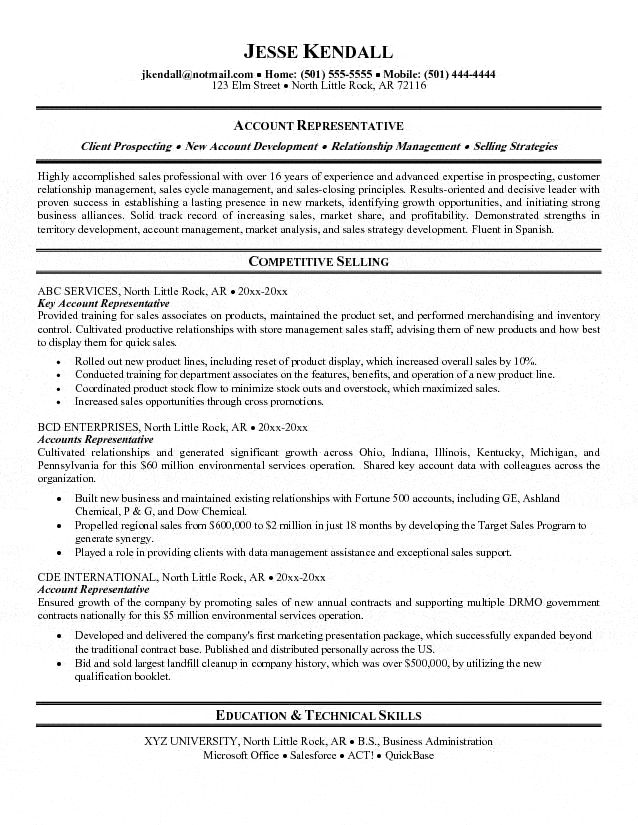 25 best Resumes images on Pinterest Australia, Good ideas and - account representative resume