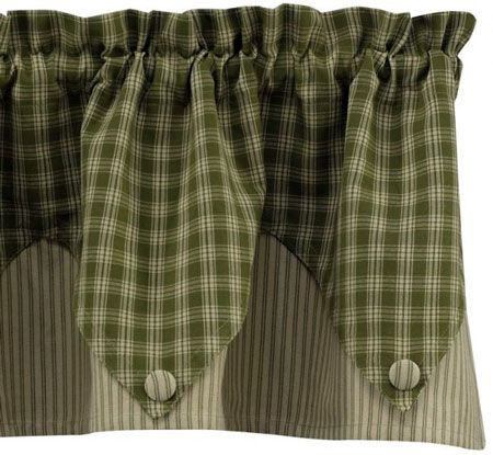 Contemporary Window Valances | Country Style Kitchen Valance Curtains by Park Designs - Pine Hill
